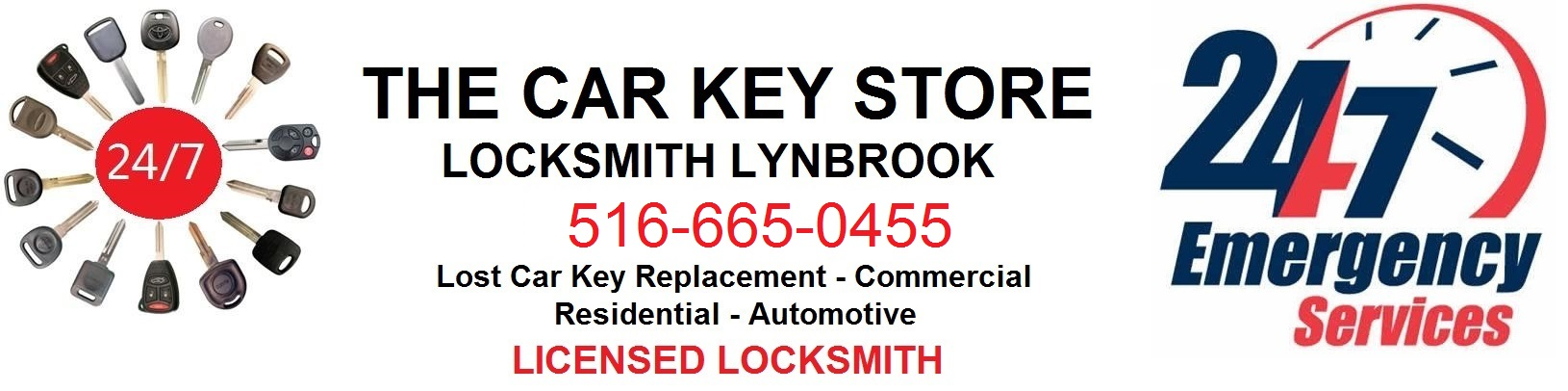 Lynbrook / Malverne Locksmith 516-665-0455 , Rockville Centre 24 Hour NY Replacement Lost Car Key